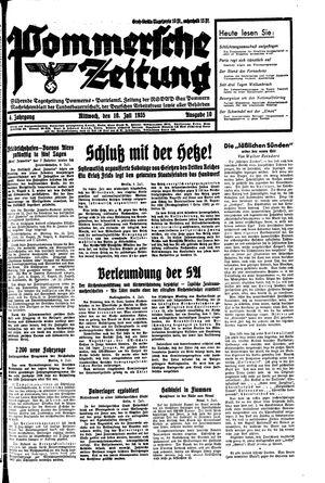 Pommersche Zeitung vom 10.07.1935
