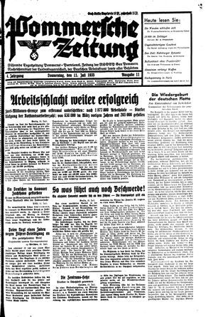 Pommersche Zeitung vom 11.07.1935