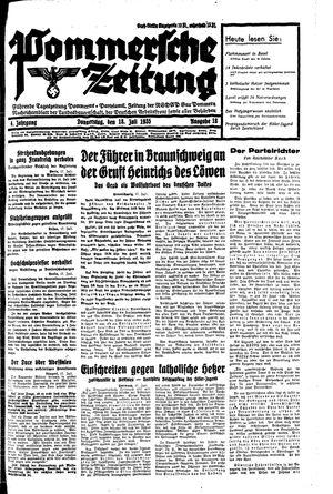 Pommersche Zeitung vom 18.07.1935
