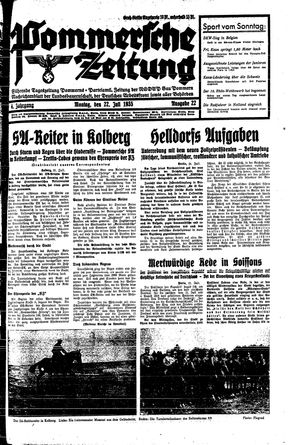 Pommersche Zeitung on Jul 22, 1935
