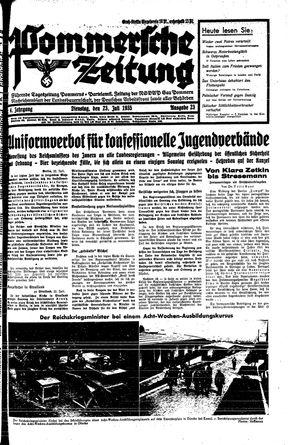 Pommersche Zeitung vom 23.07.1935