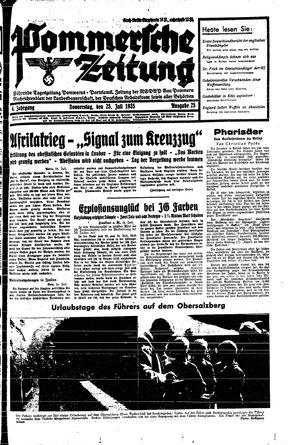 Pommersche Zeitung vom 25.07.1935