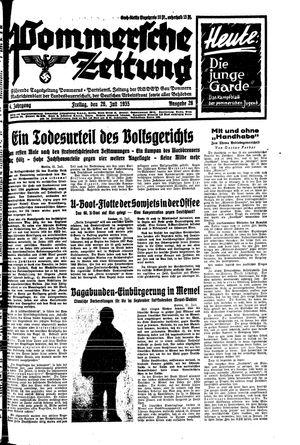 Pommersche Zeitung vom 26.07.1935
