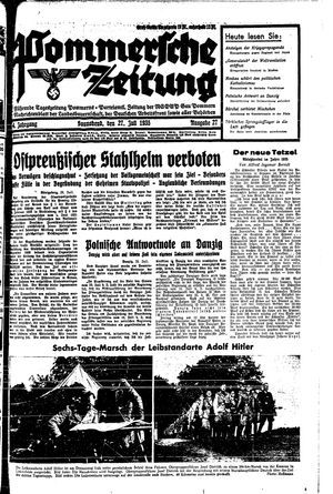 Pommersche Zeitung vom 27.07.1935