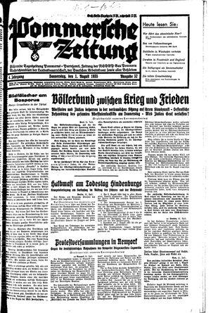Pommersche Zeitung vom 01.08.1935