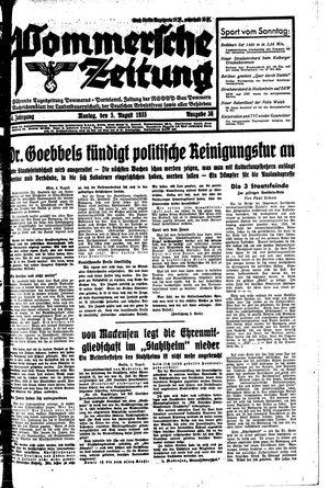 Pommersche Zeitung vom 05.08.1935