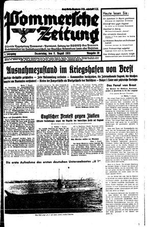 Pommersche Zeitung vom 08.08.1935