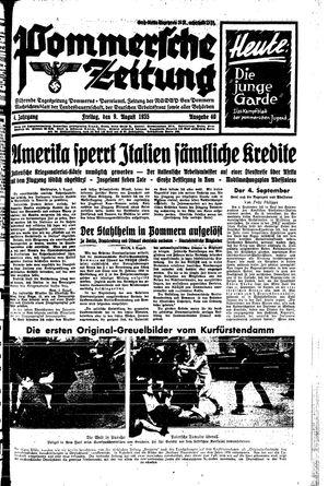 Pommersche Zeitung vom 09.08.1935
