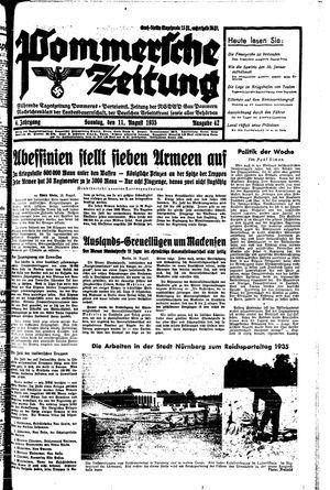 Pommersche Zeitung vom 11.08.1935