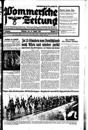 Pommersche Zeitung vom 14.08.1935