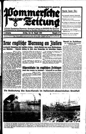 Pommersche Zeitung vom 16.08.1935