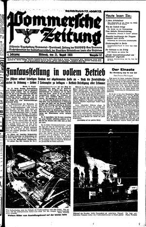 Pommersche Zeitung vom 21.08.1935
