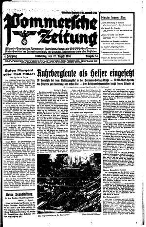 Pommersche Zeitung vom 22.08.1935