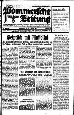 Pommersche Zeitung vom 24.08.1935