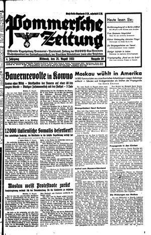 Pommersche Zeitung vom 28.08.1935