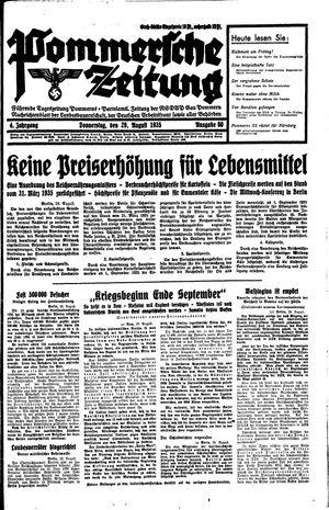 Pommersche Zeitung vom 29.08.1935