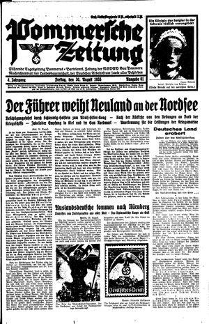 Pommersche Zeitung vom 30.08.1935