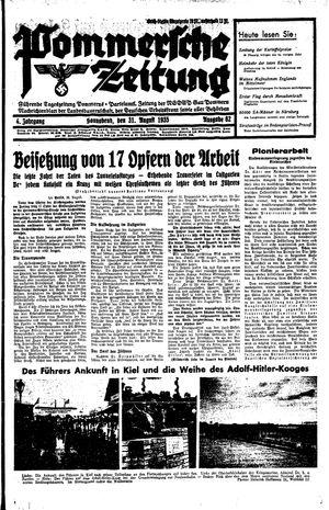 Pommersche Zeitung vom 31.08.1935
