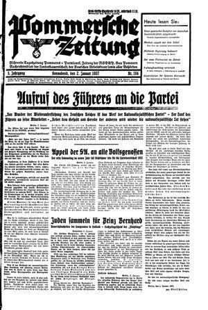 Pommersche Zeitung vom 02.01.1937