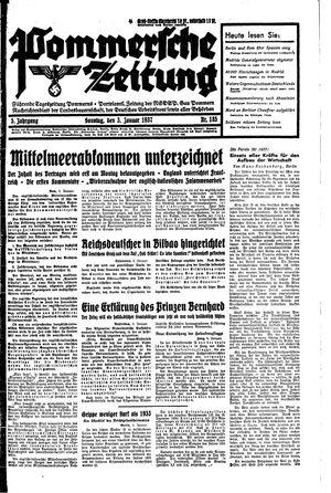 Pommersche Zeitung vom 03.01.1937