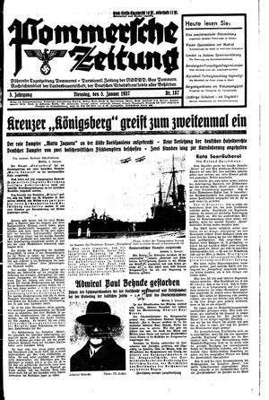 Pommersche Zeitung vom 05.01.1937