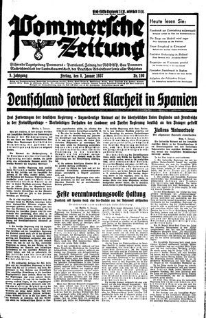 Pommersche Zeitung vom 08.01.1937