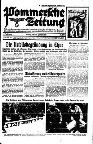 Pommersche Zeitung vom 10.01.1937