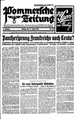 Pommersche Zeitung vom 11.01.1937