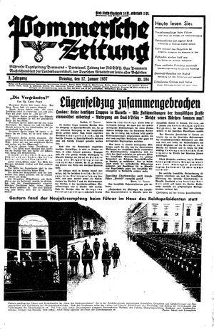 Pommersche Zeitung vom 12.01.1937