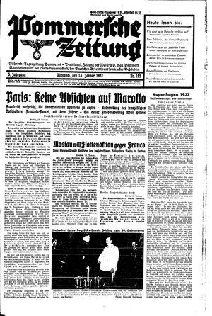 Pommersche Zeitung vom 13.01.1937