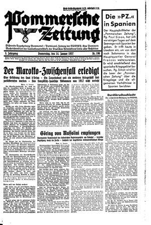 Pommersche Zeitung on Jan 14, 1937