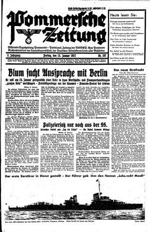 Pommersche Zeitung on Jan 15, 1937
