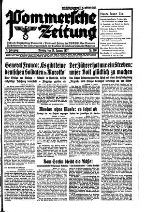Pommersche Zeitung vom 18.01.1937