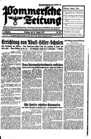 Pommersche Zeitung vom 19.01.1937