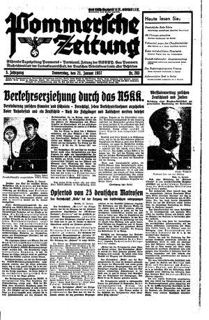 Pommersche Zeitung vom 21.01.1937