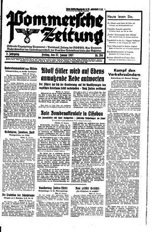 Pommersche Zeitung vom 22.01.1937