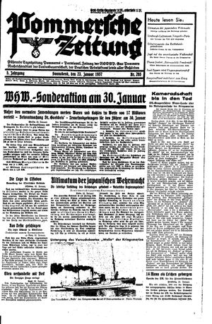 Pommersche Zeitung vom 23.01.1937