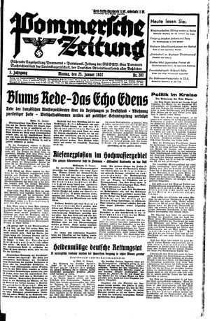 Pommersche Zeitung vom 25.01.1937