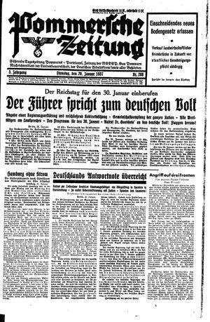 Pommersche Zeitung vom 26.01.1937