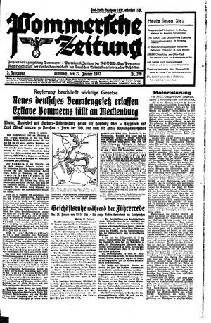 Pommersche Zeitung vom 27.01.1937