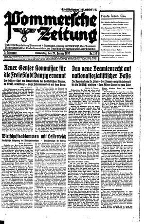 Pommersche Zeitung vom 28.01.1937
