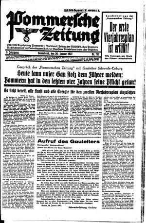 Pommersche Zeitung vom 30.01.1937