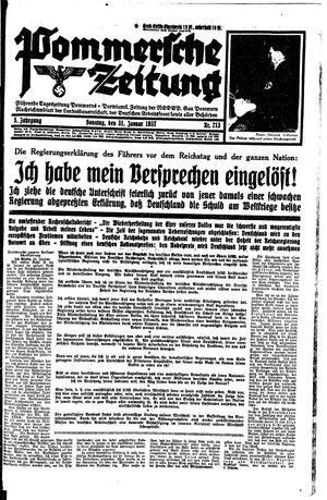 Pommersche Zeitung vom 31.01.1937