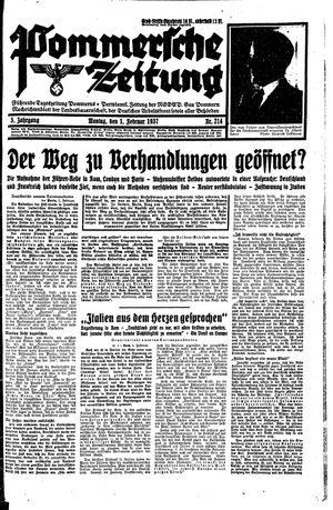Pommersche Zeitung vom 01.02.1937