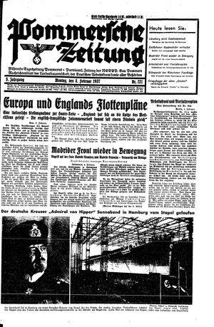 Pommersche Zeitung vom 08.02.1937