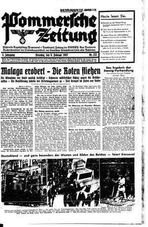 Pommersche Zeitung vom 09.02.1937