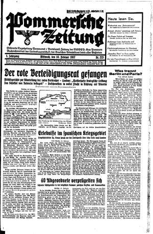Pommersche Zeitung vom 10.02.1937