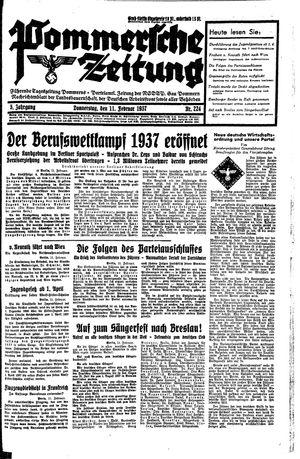 Pommersche Zeitung vom 11.02.1937