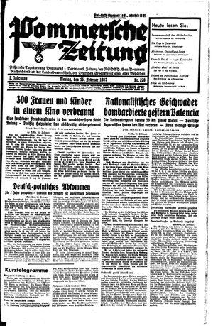 Pommersche Zeitung vom 15.02.1937