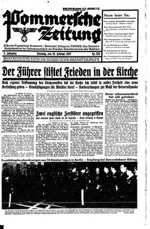 Pommersche Zeitung vom 16.02.1937